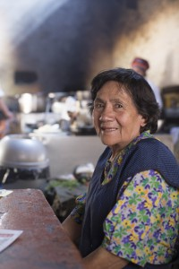 """Gladys Ballón Salas, hija de """"La Lucila"""", ha heredado entre otras cosas, la sazón picantera de su madre."""
