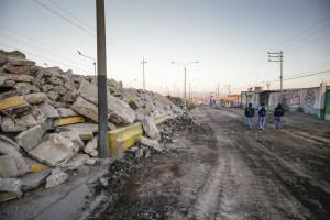 Iniciaron los trabajos de la nueva autopista de la variante de Uchumayo y este panorama se extendería por 11 meses.
