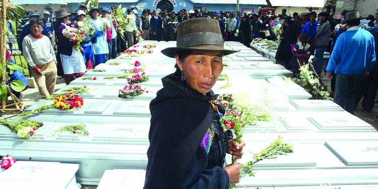 69 personas murieron masacradas en Lucanamarca (Ayacucho) a manos de Sendero Luminoso. Foto: Andina.