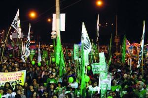La bancada fujimorista propuso en el Congreso la reelección de los alcaldes provinciales y distritales por un período adicional solamente.