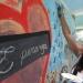 La intervención artística Color Esperanza contó con cuatro lienzos en donde los alumnos se expresaron a través del arte.