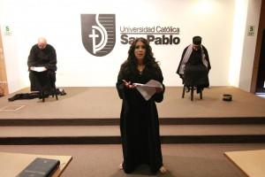 La obra El poder de la misericordia fue presentada por miembros del grupo teatral de la UCSP.