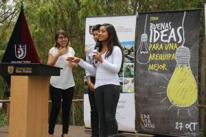 En la feria Buenas Ideas, alumnos presentaron proyectos para hacer de Arequipa una ciudad sostenible.