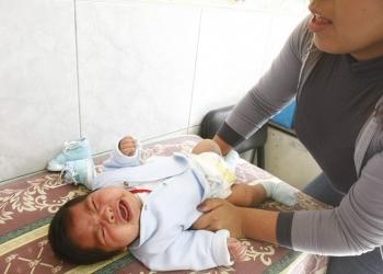 La detección de anemia infantil es inmediata con el uso del globulinómetro en las diferentes postas de salud.