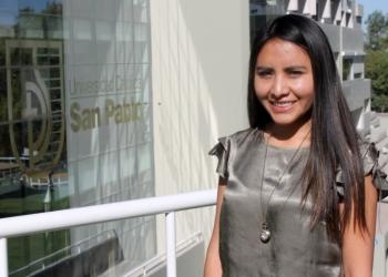 Rosa Luz Huamani, estudiante de la UCSP.