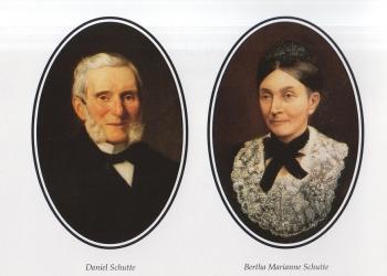 Daniel Schütte estableció en 1824 la primera casa comercial alemana en el Perú, con sede en la ciudad de Arequipa.