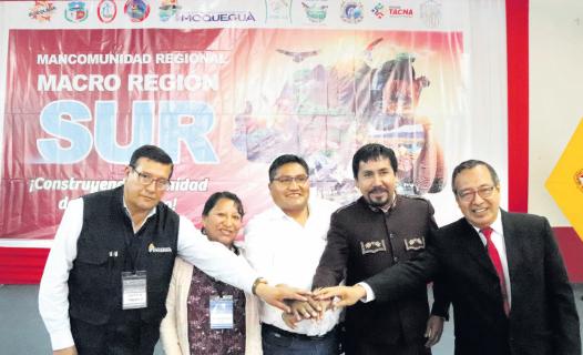 Gobernadores del sur conformaron la Mancomunidad Regional Macro Región Sur.
