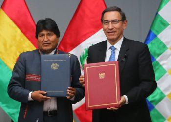 Días atrás, Martín Vizcarra y Evo Morales suscribieron varios acuerdos de cooperación entre Perú y Bolivia.