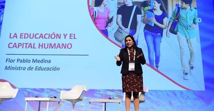 Flor Pablo, ministra de Educación.