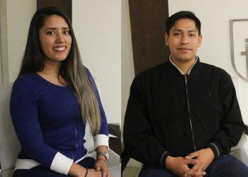 Giancarlo Murillo, Esther Rosas Bermejo, Alexander Paredes Choque y Alana Núñez Flores, los primeros egresados de la UCSP que se gradúan por artículo científico.