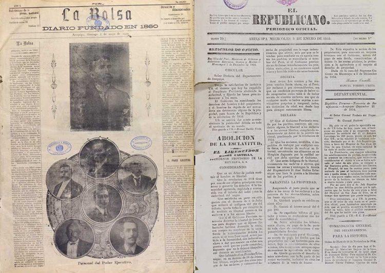 Los periódicos El Republicano, La Bolsa y El Deber, marcaron una época en Arequipa.