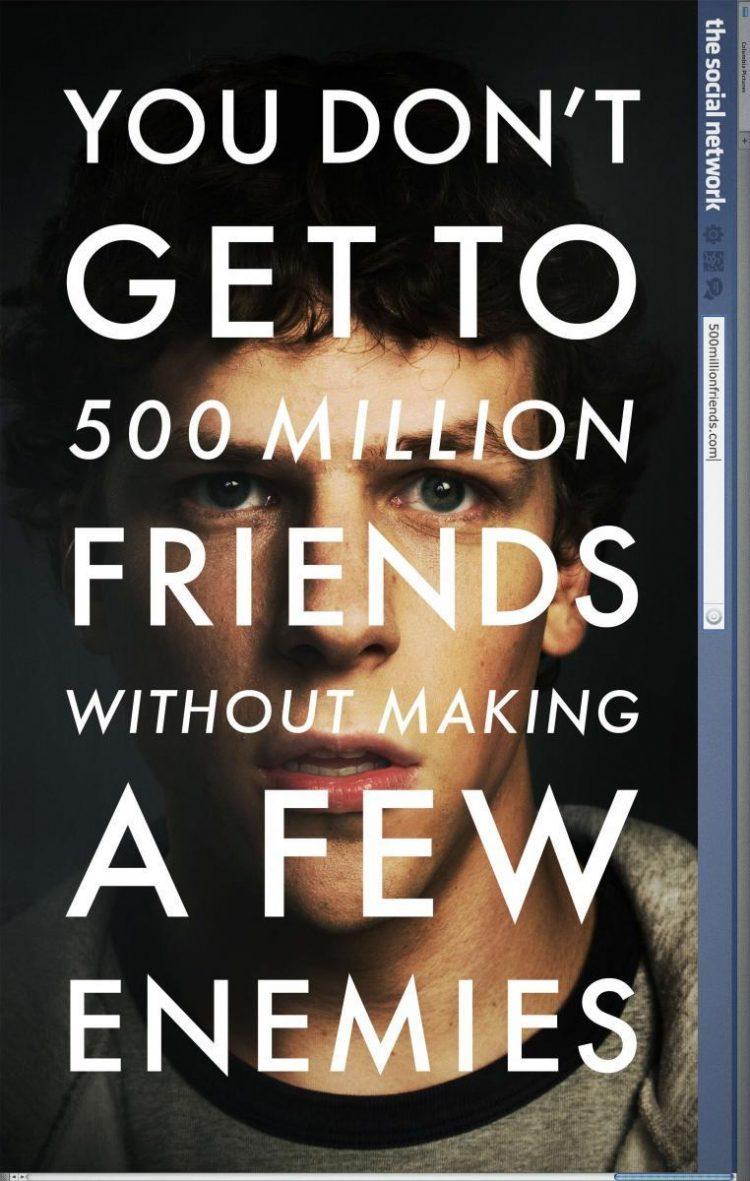 Creación de David Fisher, sorprende por su particular estilo de contar cómo surge Facebook.