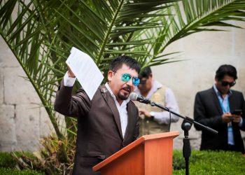 El gobernador regional, Elmer Cáceres, presentó el informe de la evaluación conjunta de la Adenda 13 de Majes II.