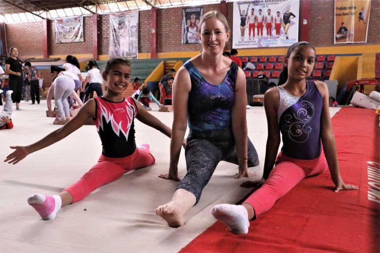 Sus hijas, practican la gimnasia desde niñas. Ellas fueron el motivo y la inspiración para Christine.