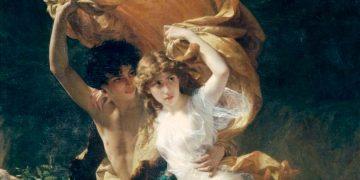 Dafnis y Cloe – La tormenta, de Pierre August Cot, pintada en 1880.