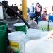 La población de siete distritos de la ciudad, se quedó sin agua potable desde el sábado pasado.