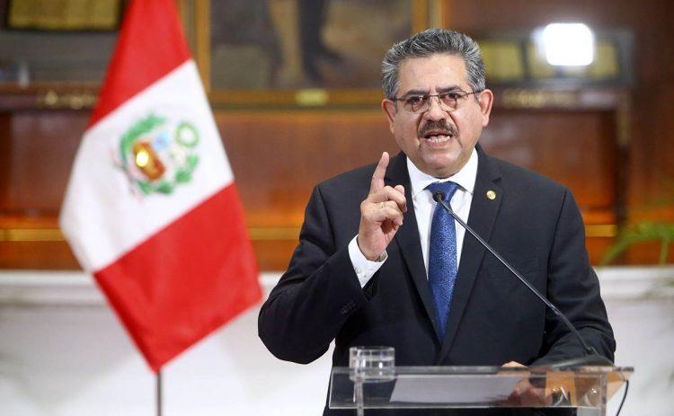 Manuel Merino duró solo seis días en el cargo de presidente de la República.
