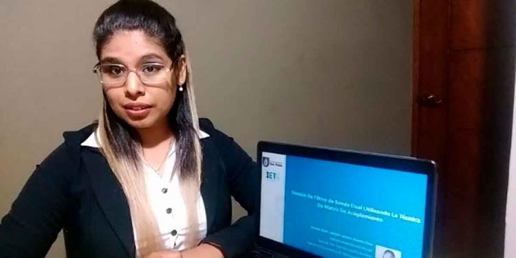 Luzbelia Amado Lima, terminó el colegio como la excelencia de su promoción.