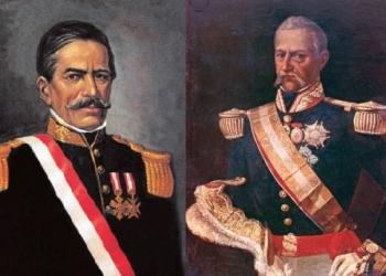 Ramón (izquierda) y Leandro Castilla (derecha) se enfrentaron durante la independencia nacional.