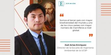 Joel Arias Enríquez, Director de la Escuela de Ingeniería Ambiental de la UCSP.