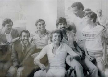 De la mano de Máximo Carrasco (sujeta un periódico), los rojinegros consiguieron el primer título nacional en 1981. En aquel equipo destacaban Jorge Ramírez, Raúl Obando, Fredy Bustamante y Genaro Neyra. Todos ellos arequipeños.