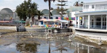 Desolado y abandonado, así luce el balneario de Tingo por efecto de la pandemia.