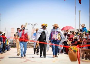 El pasado 5 de septiembre, Elmer Cáceres inauguró la plaza cívica Jardín del Colca. (Foto: Gobierno Regional)