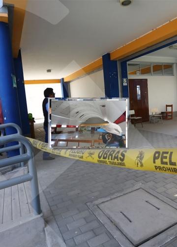 La I. E. Juana Cervantes, también presenta problemas en su infraestructura.